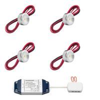 Cree LED opbouwspot Navarra bas | warmwit | set van 4, 6, 8, 10 of 12 stuks L2221