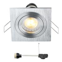 Coblux LED inbouwspot | vierkant | warmwit | 5 watt | dimbaar | kantelbaar L2062
