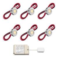 Cree LED veranda inbouwspot Pals rts   warmwit   set van 6, 8, 10 of 12 stuks L2232